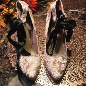 forever21 velvet heels